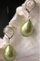 Hot Sell ! green shell Pearl Earrings