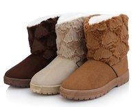 2013 HOT ! Women's Winter Snow boots for Lady & Dark Coffee,light coffee,Beige