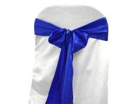 wholesale cheap weddng satin chair sash for hotel, banquet, wedding At03016 royal blue