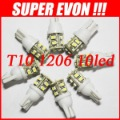 Free Shipping + Car Led Light+ 6pcs/lot + T10 W5W 168 194 w5w 10 1206 SMD LED Bulb Lamp White Color CL0007#6