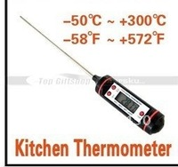 LCD Digital Food Meat Cooking Kitchen Probe Thermometer BBQ , Freeshipping, Dropshipping