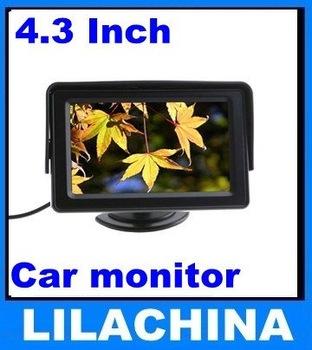 "4.3"" TFT LCD Car Monitor Headrest Monitor Color Camera DVD VCR CCTV free shipping"