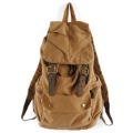Free shipping 2012 Cotton male women's travel bag canvas casual backpack vintage school bag army green khaki color