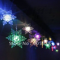 Free Holiday sale 4*0.15meters Snowflake LED Christmas Decoration Lights LED party lamp LED curtain light