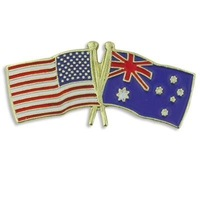 Newest Best Selling Hot Selling High Quality USA Australia Flag Pin