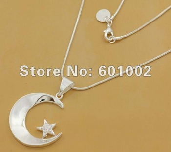 GY-PN535 Free Shipping 925 Silver fashion jewelry Necklace pendants Chains , 925 silver necklace arva jjca sala
