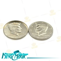 Expanded Shell Coin(Half Dollar)-wholesale-Free Shipping-king magic trick props/magie/magia