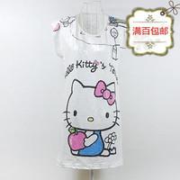 free shipping Fashion T-Shirts cartoon paillette women's short-sleeve white plus size o-neck loose long design t-shirt