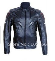 Overalls motorcycle service locomotive take locomotive PU  leather jacket