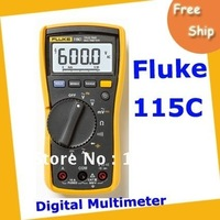 DHL Free shipping New Fluke 115C Phase Rotation Indicator Electrician's True RMS Multimeter with case