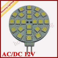 5W 24*SMD5050 G4 Round LED Spotlight, DC12V, LED Car Light LED Corn Light, 10 pcs/lot , Free Shipping