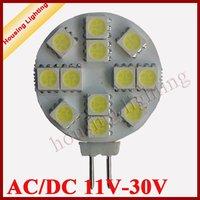 2.5W 12*SMD5050 G4 Round LED Spotlight, AC/DC11V-30V LED Car Light LED Corn Light 10 pcs/lot , Free Shipping