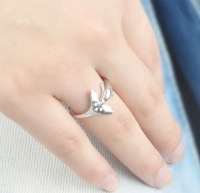 Q455 accessories the trend of fashion exquisite all-match dolphin diamond super girl ring