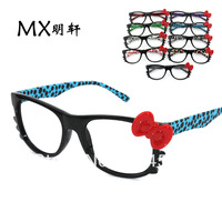 20pcs-Free Shipping-Top Quality-Brand New Style Hello kitty glasses box cat eyeglasses frame kt leopard print bow glasses lens