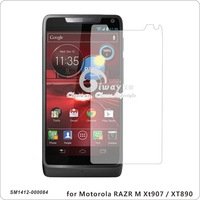 for Motorola RAZR M  XT907 RAZR i XT890, Clear anti-scratch high transparent Screen Protector without retail package
