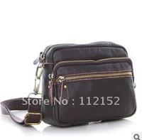 Free shipping-- Men's korea style fashion shoulder bag Genuine Leather messenger bags