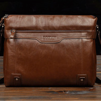 2012 Brand man shoulder bag hot selling and good value men shoulder bag/soft leather briefcase bag free shipping MB123