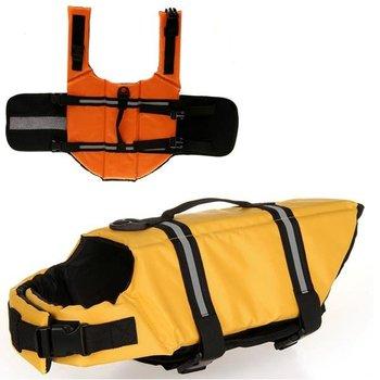 Free Shipping New Pet Dog Cloths Swimming Preserver Boat Saver Life Jacket Reflective Strip 2 Colors D043
