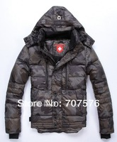 Exported Germany Keep Warm+ Thickening High Quality  Men's clothing down coat Short Design Goose Down Jacket  Camouflage / Black