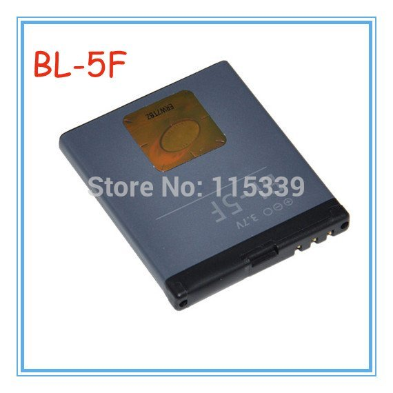 Free shipping by EMS BL-5F / BL 5F Battery Use for Nokia 6290 E65 N93i 6210 N96 6210S 6710N N95 Without retial package(China (Mainland))