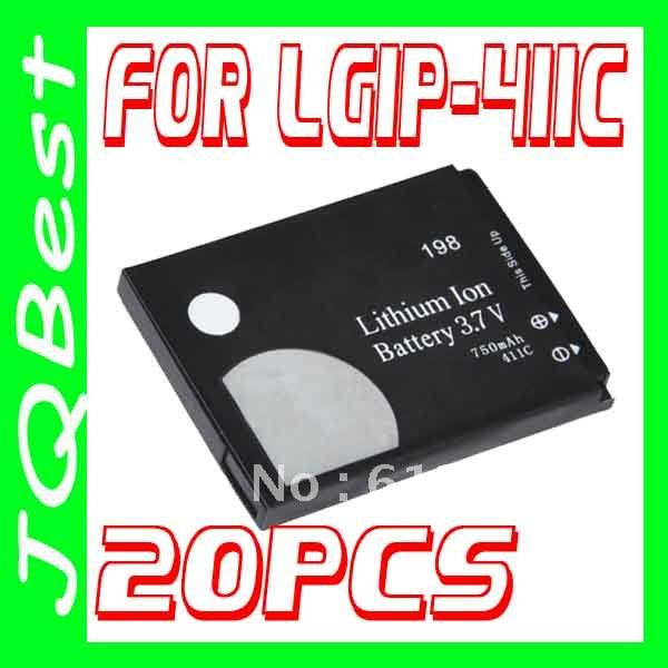 20pcs For LGIP-411C 411C Battery For LG Mobile Phone CG180 KG160 KG270 KG275 KG278 KG198 KG190 KG195(China (Mainland))
