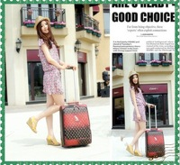 free shipment 22 inch Trolley Case luggage Top New Brand Suitcase, trolley case luggage travel set with dusty bag