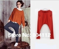 Fashion Knit Haren Pants Trousers in Fall Winter  Wear Orange , Grey