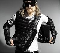 NRYG 2014 clothing fashion cotton vest bullet proof vests coating glossy slim cotton Sport vest coat
