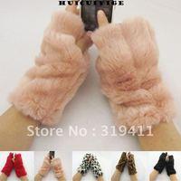 Free shipping women's semi-finger imitate rabbit hair gloves fingerless arm sleeve semi-finger gloves SC0021