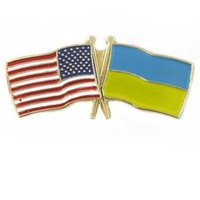 Newest Best Selling Hot Selling High Quality USA Ukraine Flag Pin