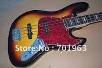 factory sellers wholesaler + Free Shipping New jazz bass Electric Guitar,5 strings guitar sunset color !