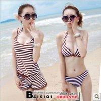 2012 NEW women high quality Bikini three-piece Swimsuit set, sexy Bra/underwear/shirt/shorts 3 sets swimwear + free shipping