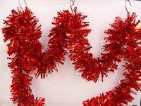 Free Shipping 12 PCS/lot  9CM*2M Christmas Tinsel Christmas Tree Decoration ZT1201