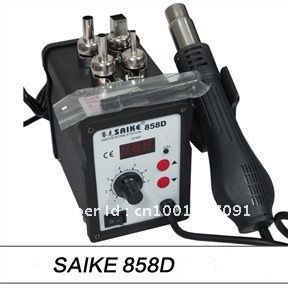 2012 Free shipping Saike 858D SWD rework station Hot air gun 700W 220V or 110V