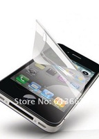 New arrive 50pcs/lot  for iphone 4 4S clear screen protector guard,for iphone 4 4S lcd protector film no Retail Package