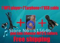 free shipping Mini Clip Mp3 Player+earphone+usb cable,sport Mirror Mp3, mini mp3,TF card support