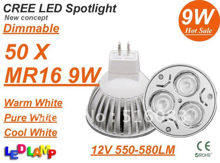 Dimmable-MR16-9W-3x3W-CREE-High-power-LED-Spot-Light-Bulb-Spotlight