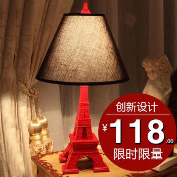 Fashion bedside table lamp red table lamp vintage eye lamp lighting