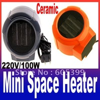 Mini Portable Personal Ceramic Space Heater Electric 220V Fan Forced Blue Red Freeshipping