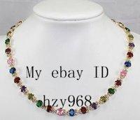Charming!Multicolor Zircon Crystal Necklace