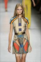 Desinger dress National trend silk print short-sleeve slim one-piece dress 0306-01be sexy wear