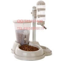 Pet water dispenser combined type automatic feeding water dispenser shengjiang vertical water dispenser pet bowl dog bowl