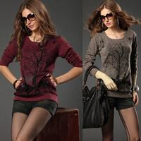 2014 plus size clothing new arrival plus size clothing mm fashion basic shirt long-sleeve Free Shipping