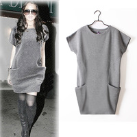 2012 women's winter one-piece dress new arrival fashion loose winter one-piece dress