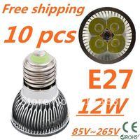 10pcs/lot Free DHL and FEDEX express CREE LED High power E27 Base 4x3W 12W led Light led Lamp led Downlight led bulb spotlight