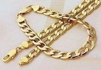 chain men's Curb necklace bracelet sets