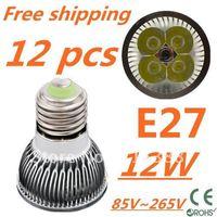 12pcs/lot Free DHL and FEDEX express CREE LED High power E27 Base 4x3W 12W led Light led Lamp led Downlight led bulb spotlight