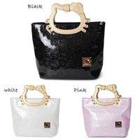 Free shipping, Hello Kitty fashion handbag Cat handle tote women shoulder bag PU leather hand bags retails