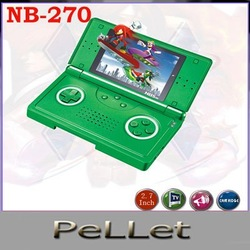 Kids handheld electronic games NES format games portable game player 8-bit NB-270 free shipping(China (Mainland))