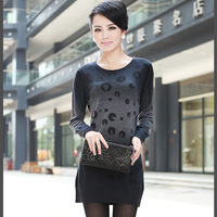 Free Shipping  2013 Plus Size Ms. Spring and Autumn new Slim long wool  sweater